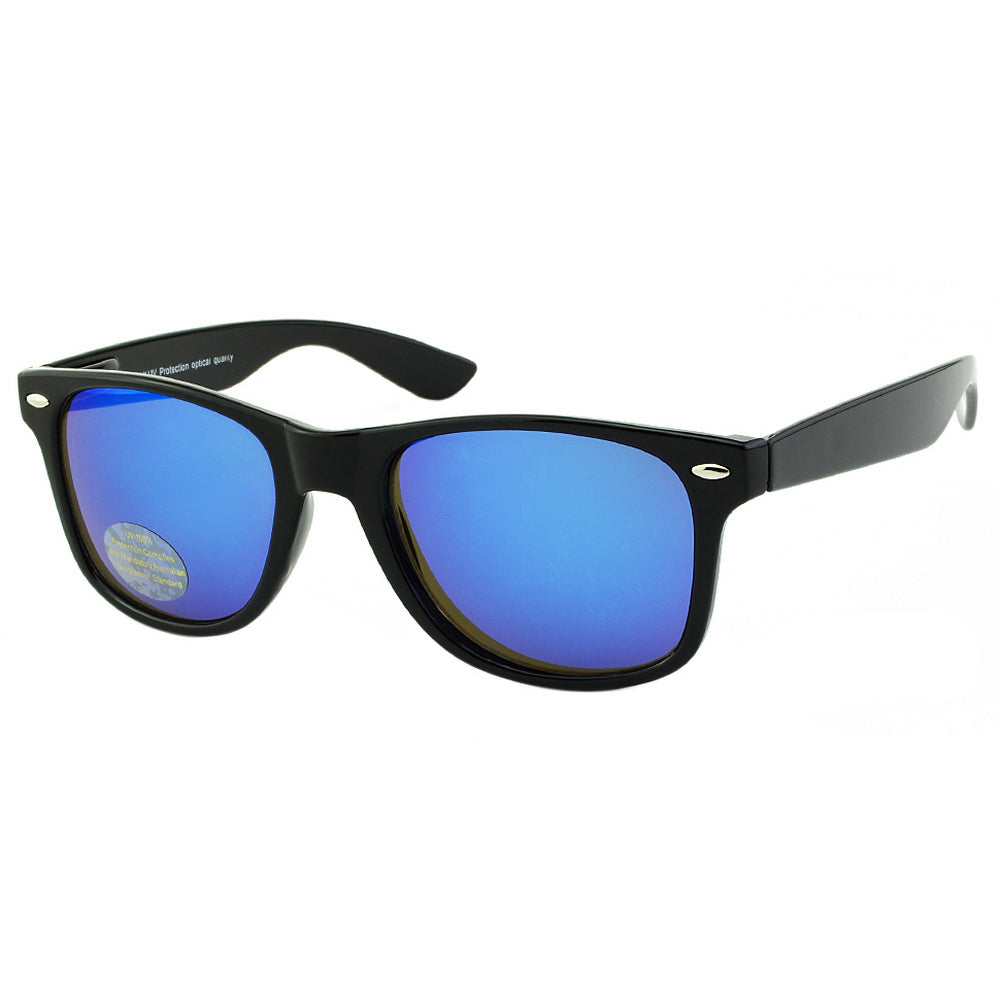 Blue lens wayfarer sunglasses