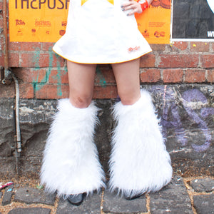 White Rave Fluffies by Ministry of Style