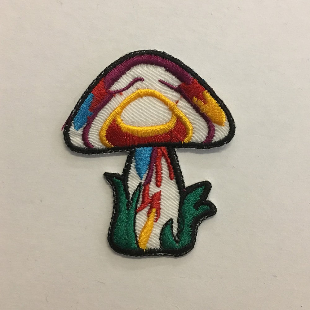 Psychedelic Mushroom iron on patch