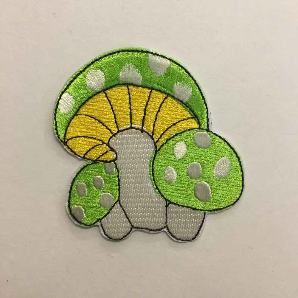 Green Mushroom iron on patch