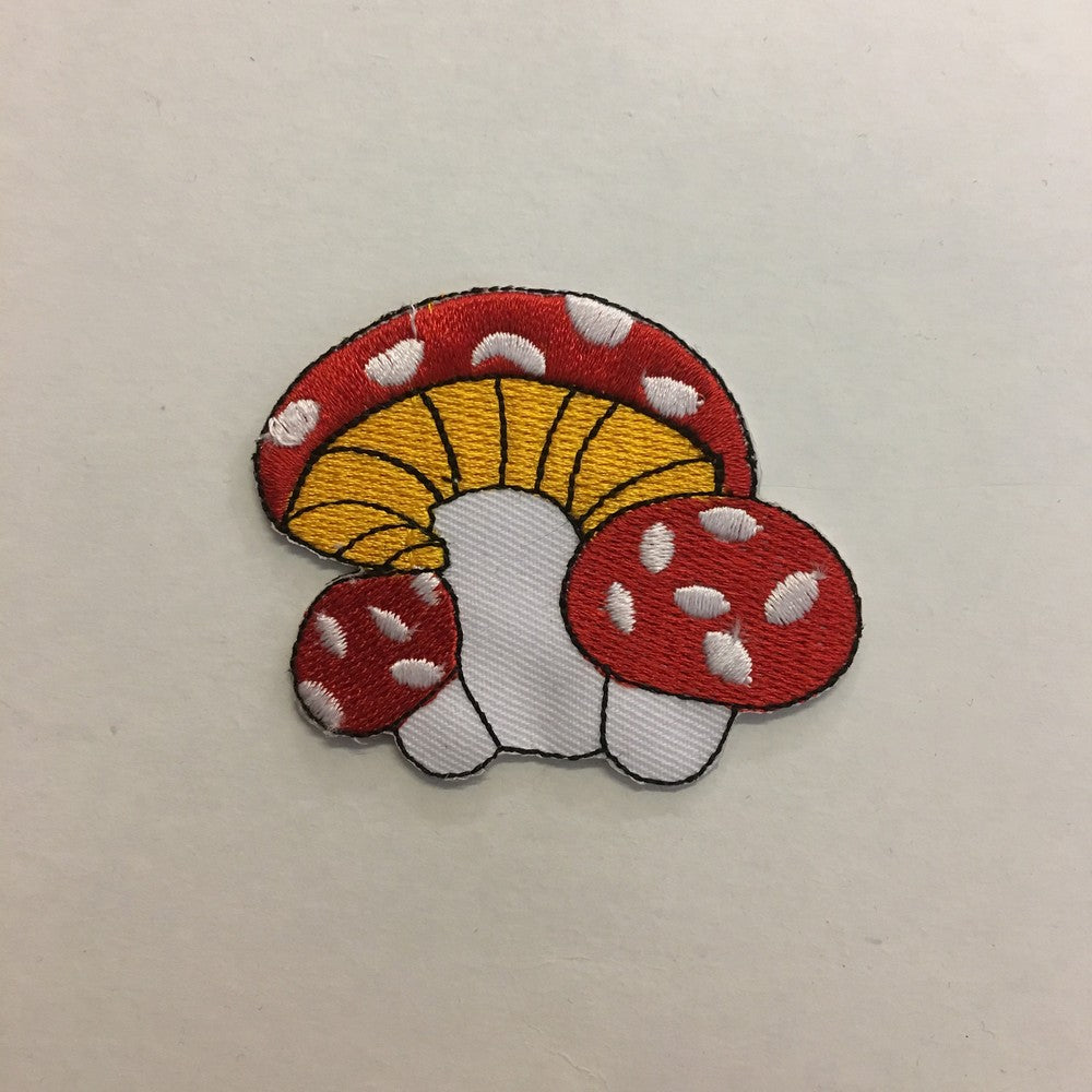 Red Mushroom iron on patch