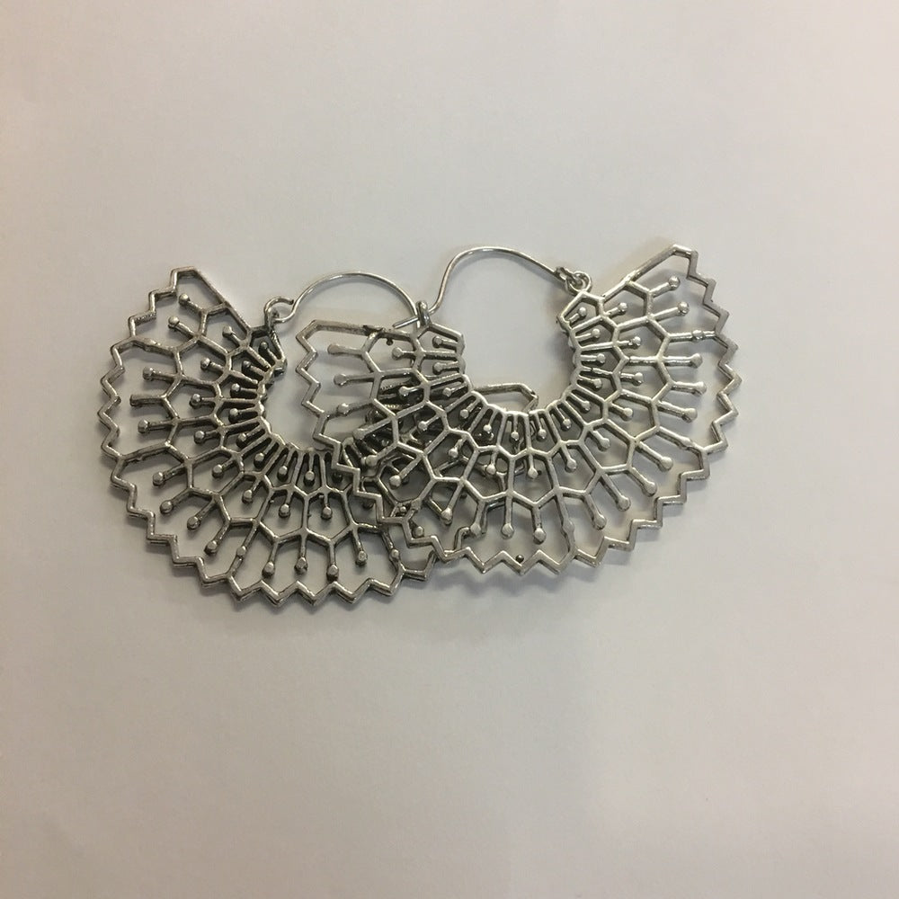 Silver Fan Earring