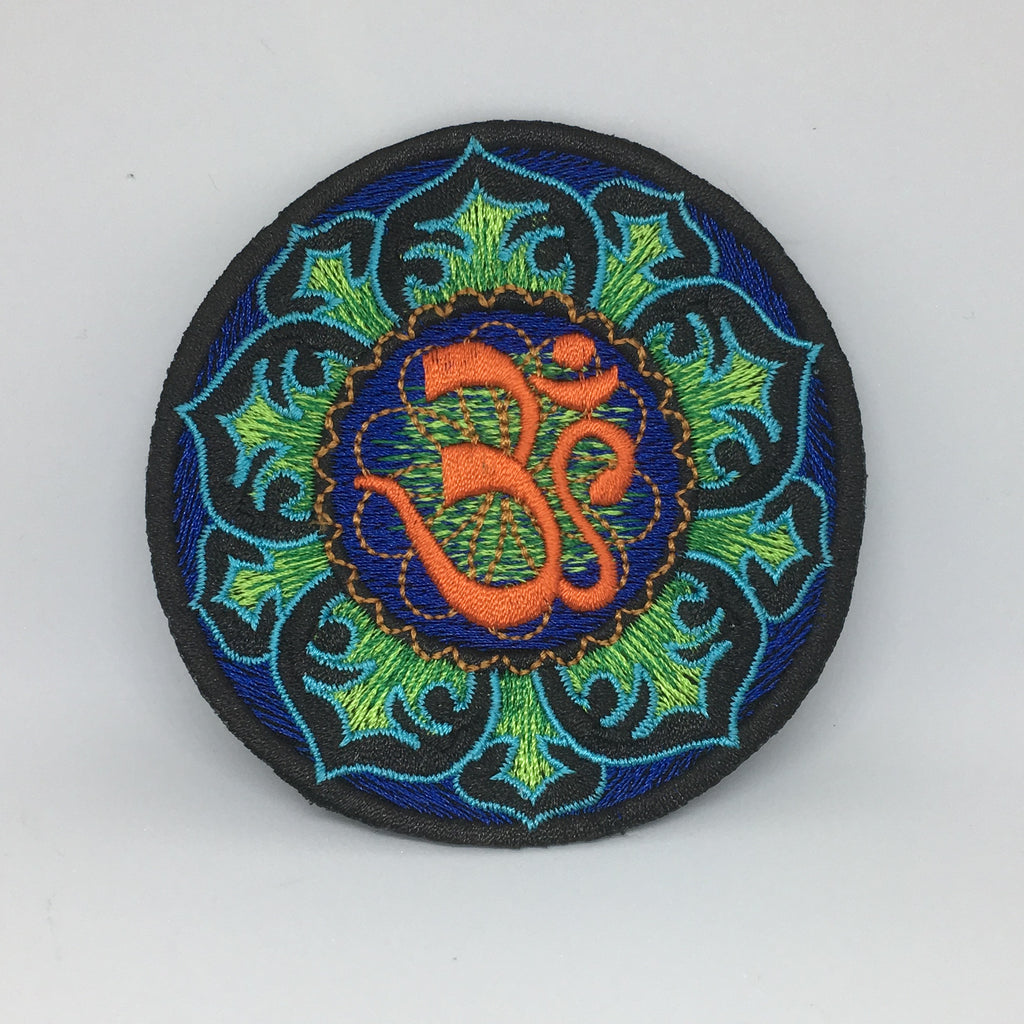 Blue Om Iron-on Patch