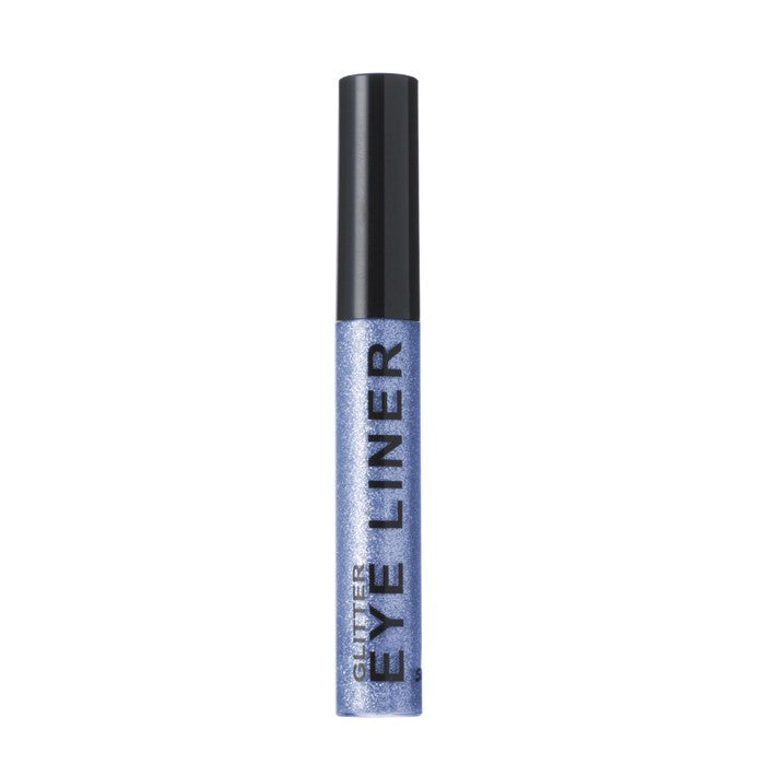 tube of blue glitter eyeliner for festival fashion
