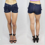 Tease denim shorts in Blue denim by Ministry of Style