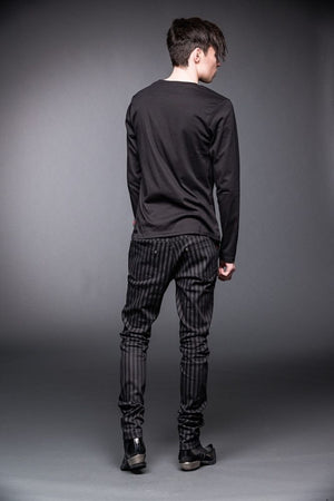 Wickepin striped steampunk jeans