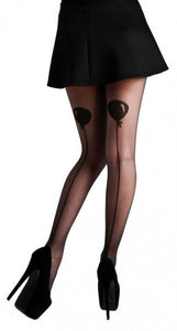 Balloon back seam stockings