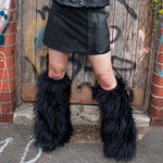 Black Rave Fluffies by Ministry of Style