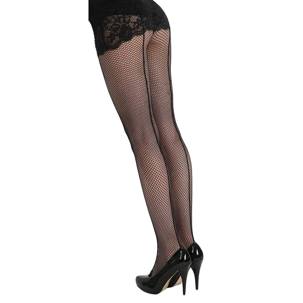 back seam fishnet stockings