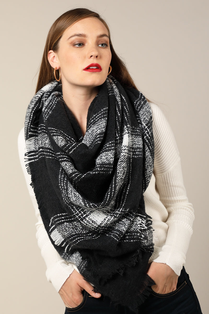 Blanket Scarf Black