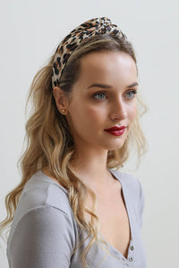 Leopard Twist Headband