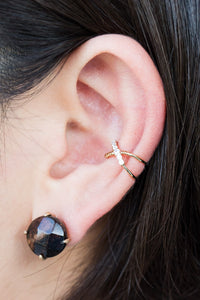 Crisscross Ear Cuff Gold