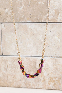 Beaded Pendant Fuchsia