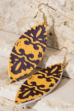 Print Earrings Orange