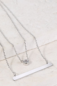 Layered Charm and Bar Necklace