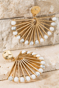 Dangle Post Earrings White
