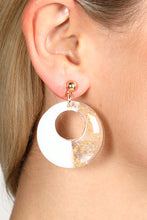 Duo Tone Earrings White