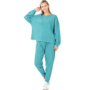 Teal Oversized Top and Pant Set