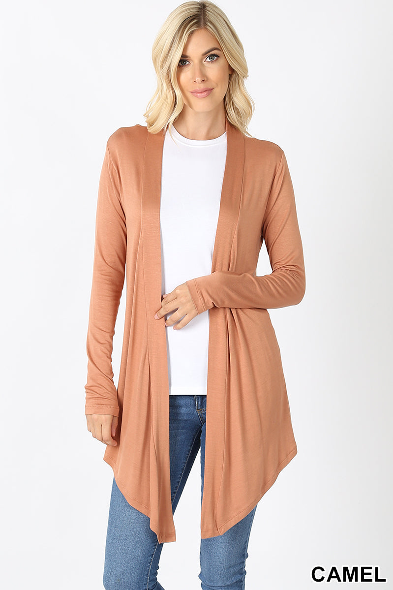 Long Sleeve Cardigan Camel