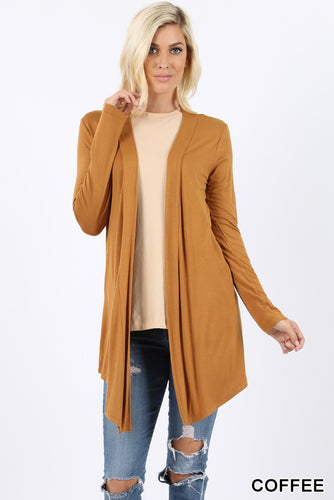 Long Sleeve Cardigan Coffee