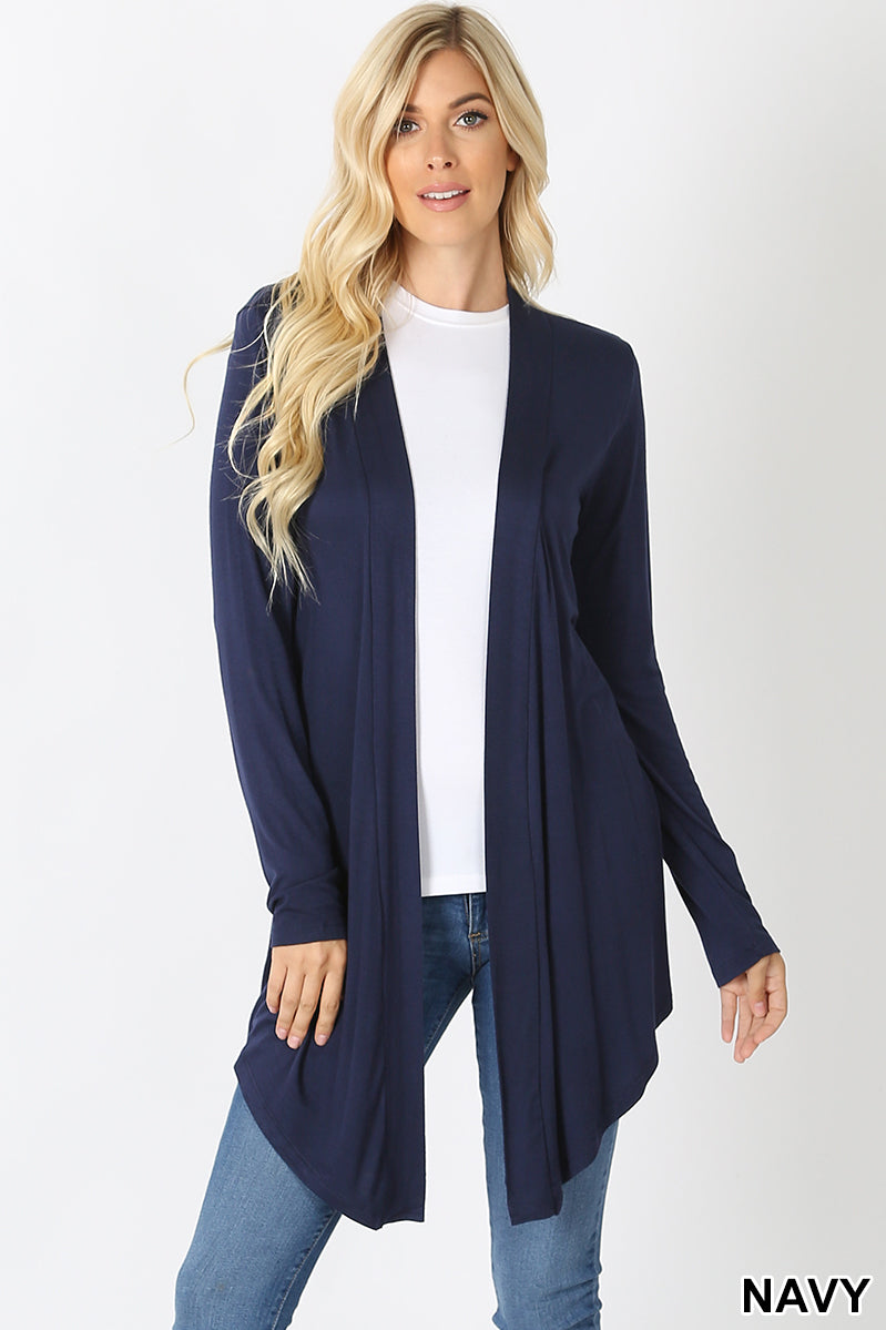 Long Sleeve Cardigan Navy