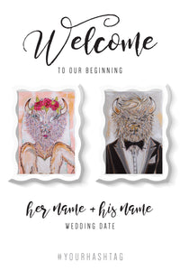 Wedding Welcome Poster