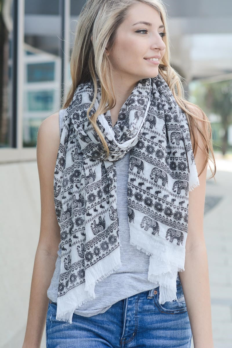 Elephant Tapestry Scarf