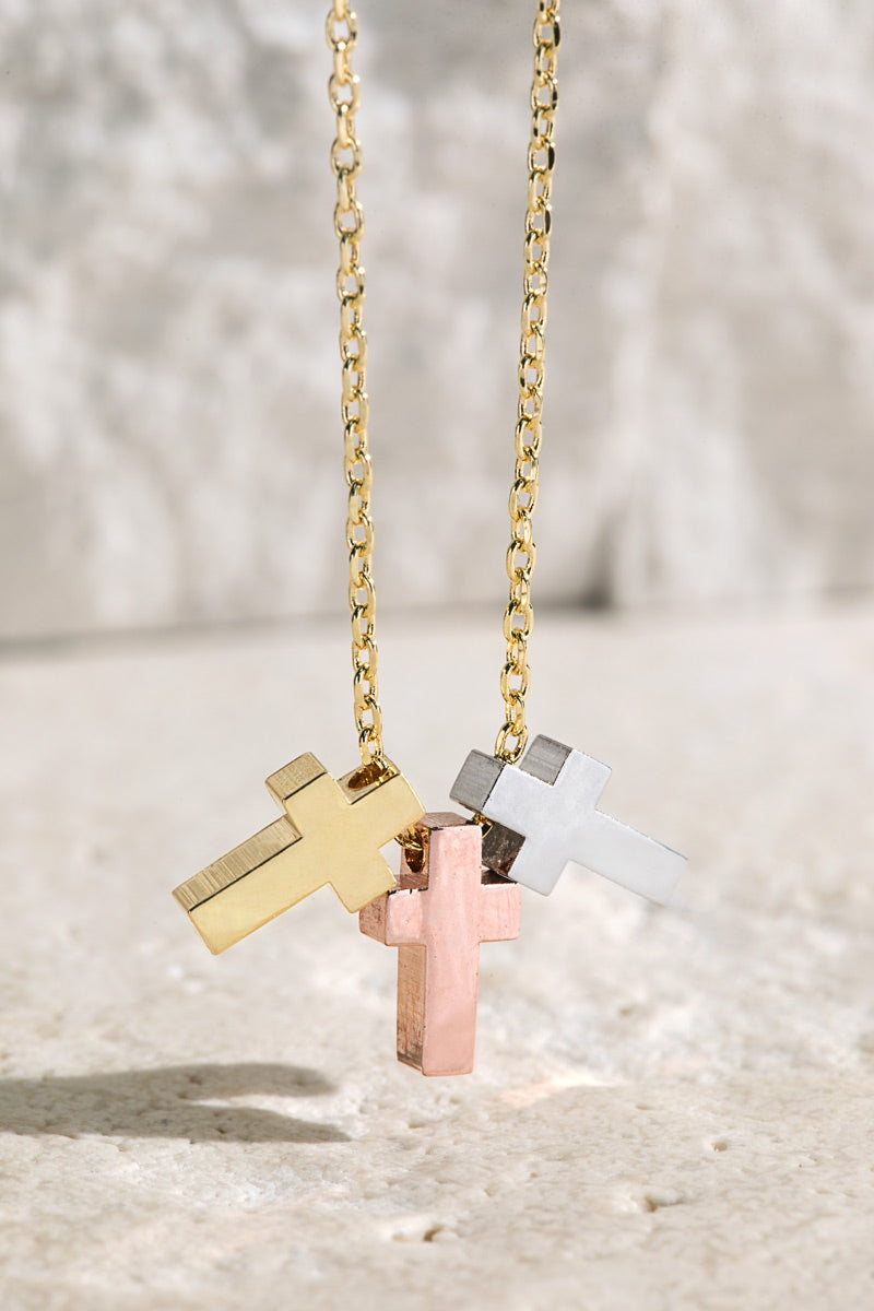 Cross Trio Necklace