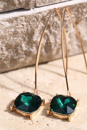 Glass Earrings Green