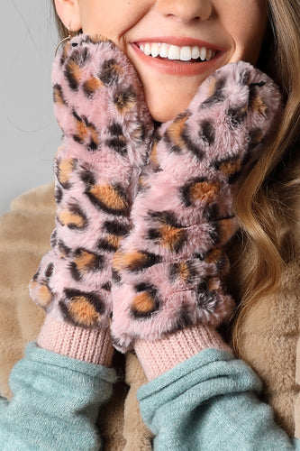 Animal Print Pop Top Mitten