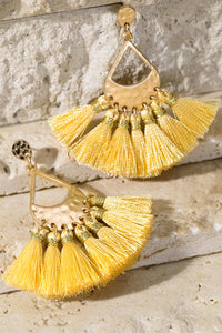 Hammered Metal and Tassel Yellow