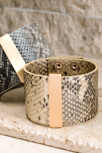 Faux Snake Leather Bracelet