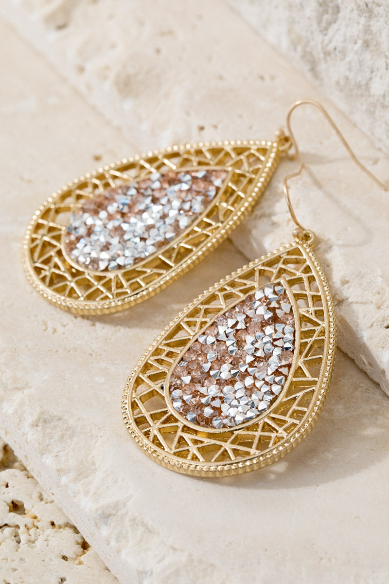 Teardrop Earrings Rose Gold