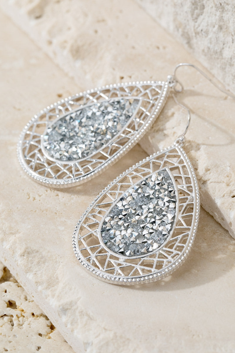 Teardrop Earrings Sliver