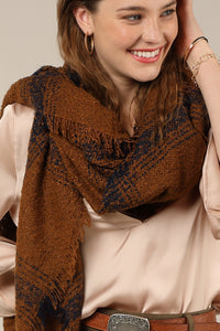 Blanket Scarf Brown