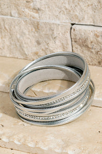 Layer Leather Bracelet Sliver