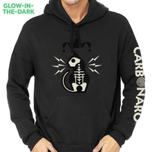 Load image into Gallery viewer, Glow-In-The-Dark Jester Cat Hoodie