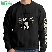 Load image into Gallery viewer, Glow-In-The-Dark Jester Cat Crewneck