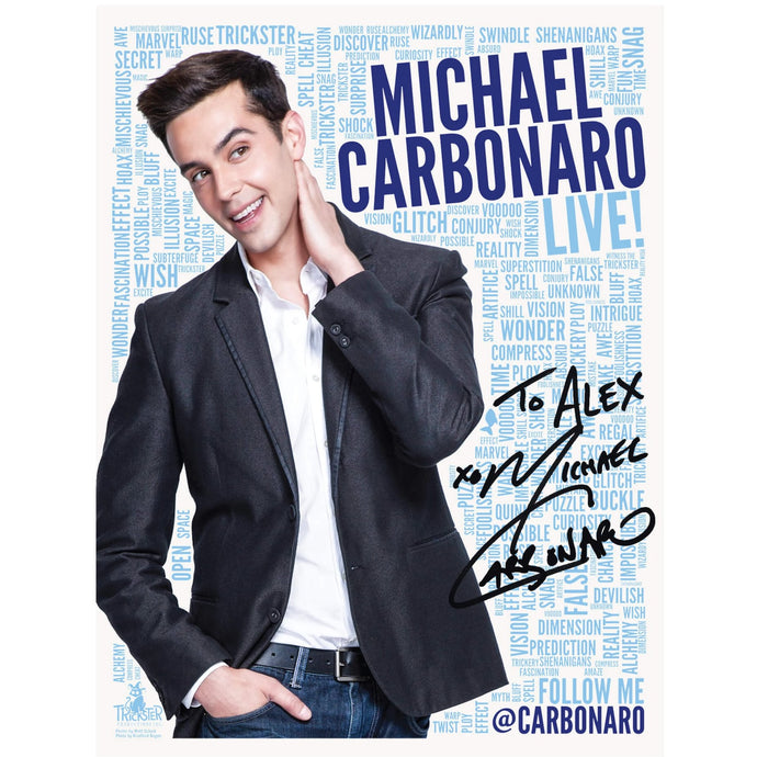 Michael Carbonaro Signed Poster