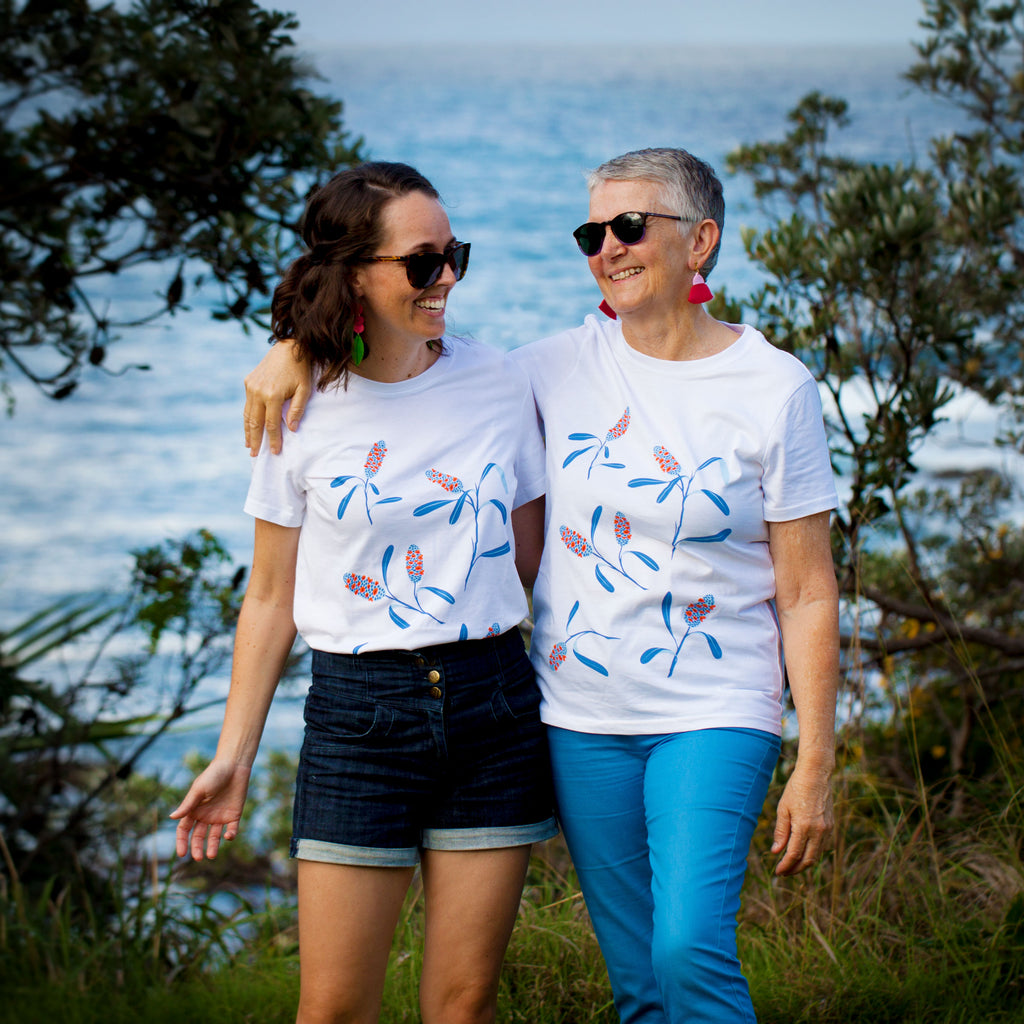 Coastal Banksia Tee - Organic Cotton