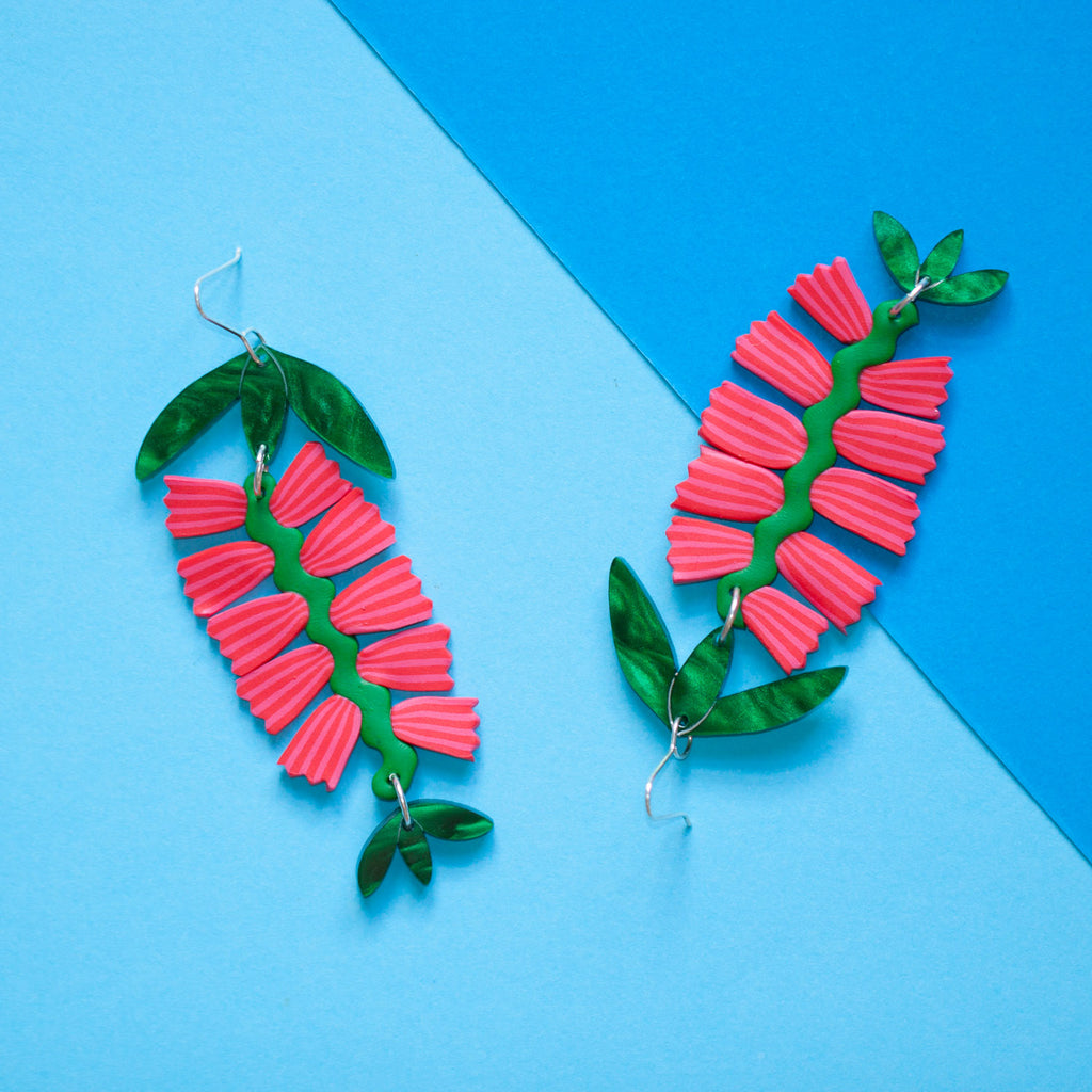Bottlebrush Blossom Earrings