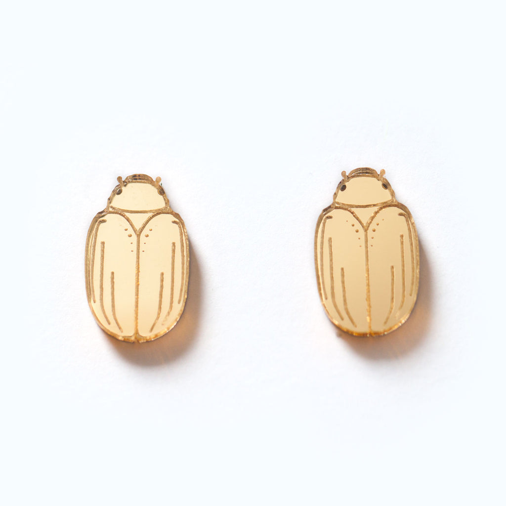 Christmas Beetle Studs - Tiny