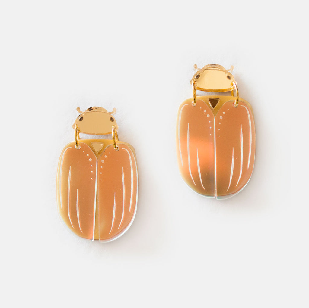 Christmas Beetle Earrings - Statement