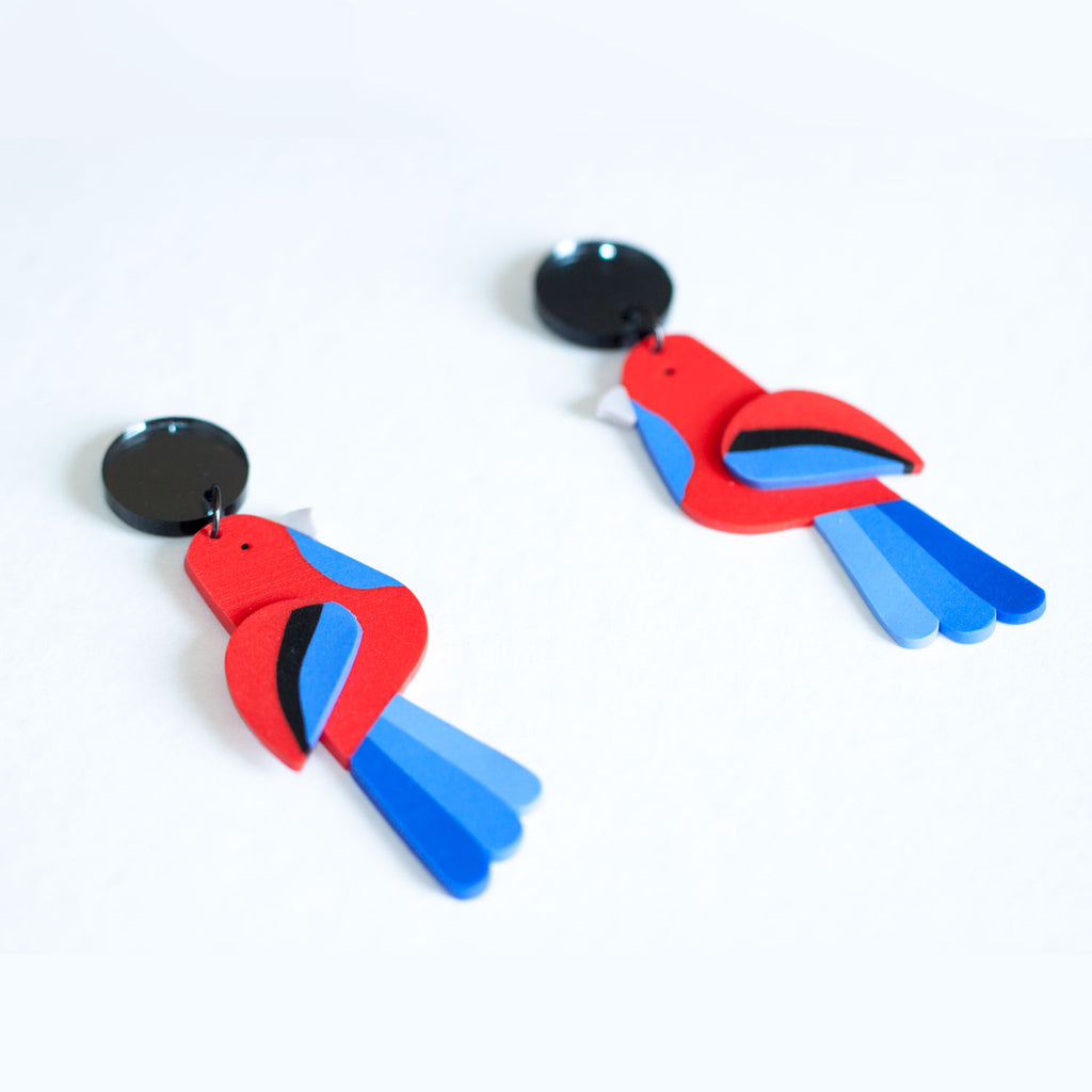 Crimson Rosella Earrings