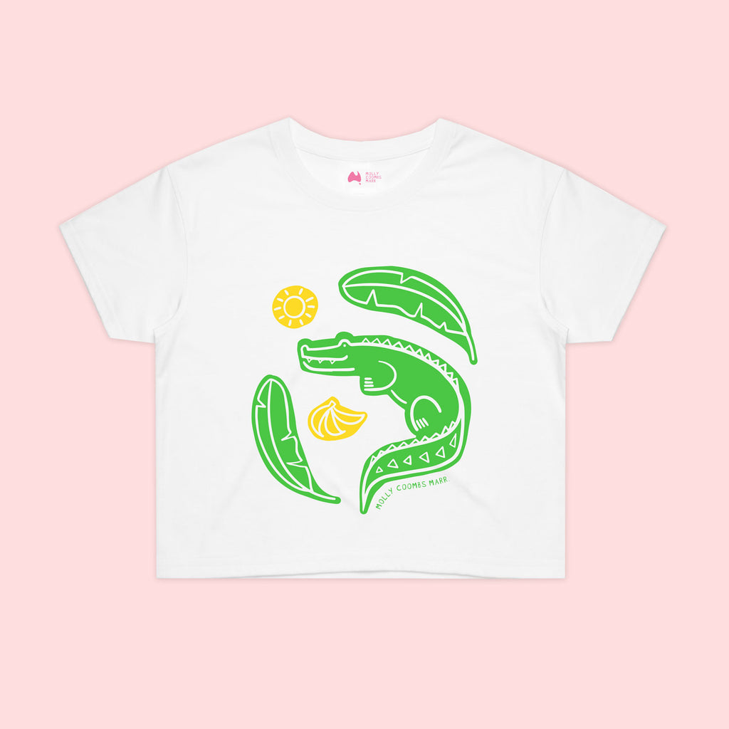 Crocodile Crop Tee