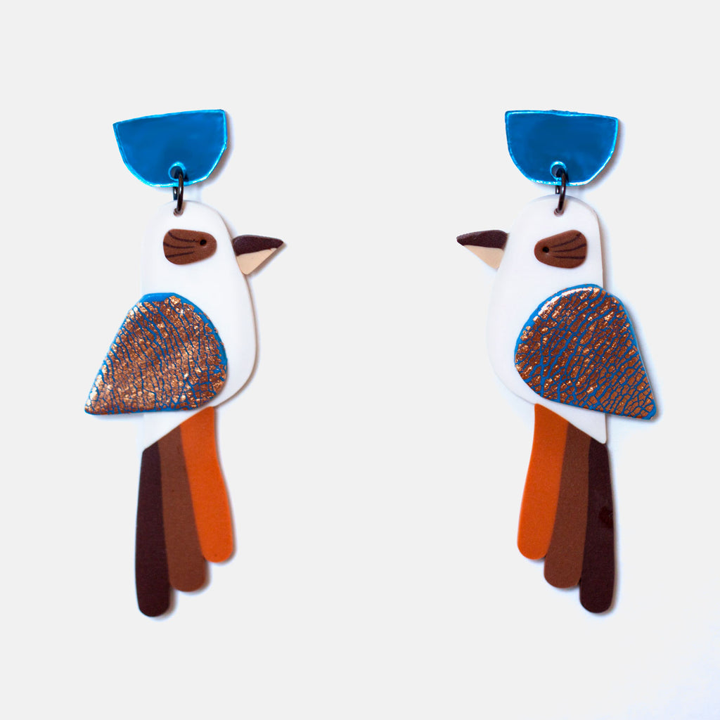Snazzy Kookaburra Earrings