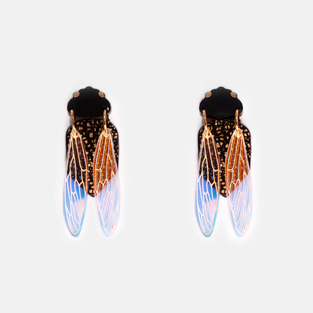 PRE-ORDER: Black Prince Cicada Earrings - Mini