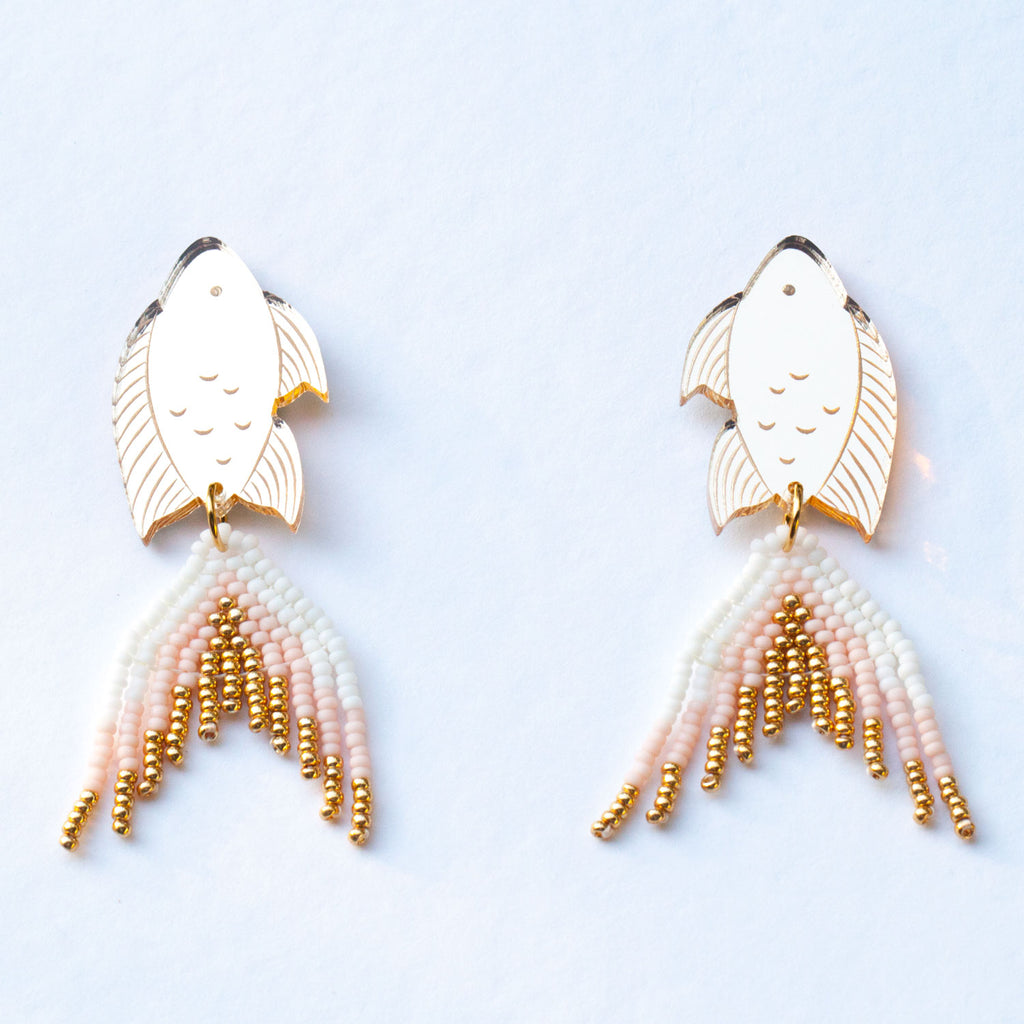 PRE-ORDER: Gold Seaperch Earrings - Mini