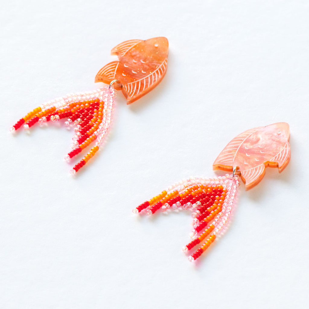 PRE-ORDER: Orange Seaperch Earrings - Mini