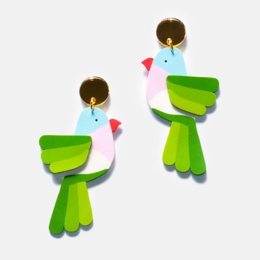 Princess Parrot Earrings